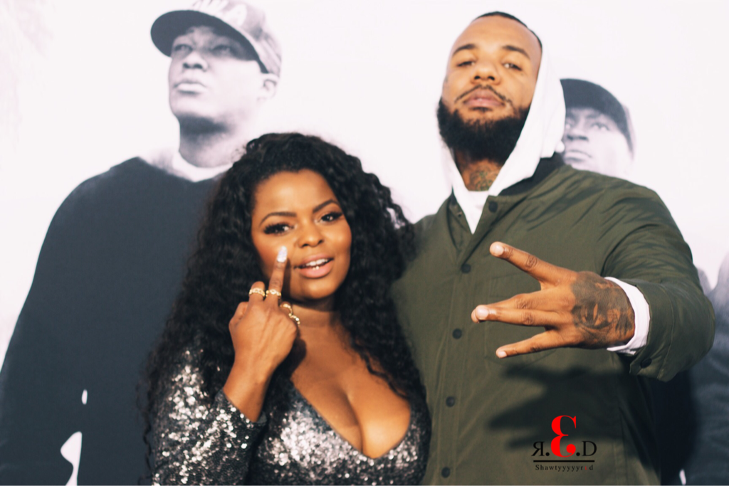 "Asia and The Game at the premiere of ""Straight Outta Compton"""