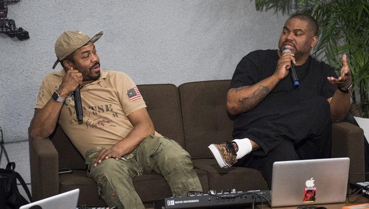 Just Blaze (left), legendary producer, inadequate skater.