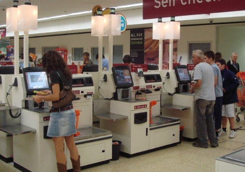 Sentient self-checkout machine just waiting for somebody to buy knife -