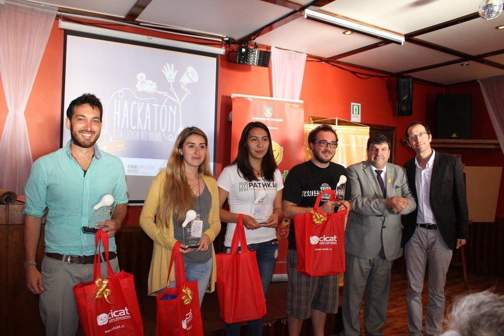 Premiación Primera Hackatón x la ciencia del Biobio