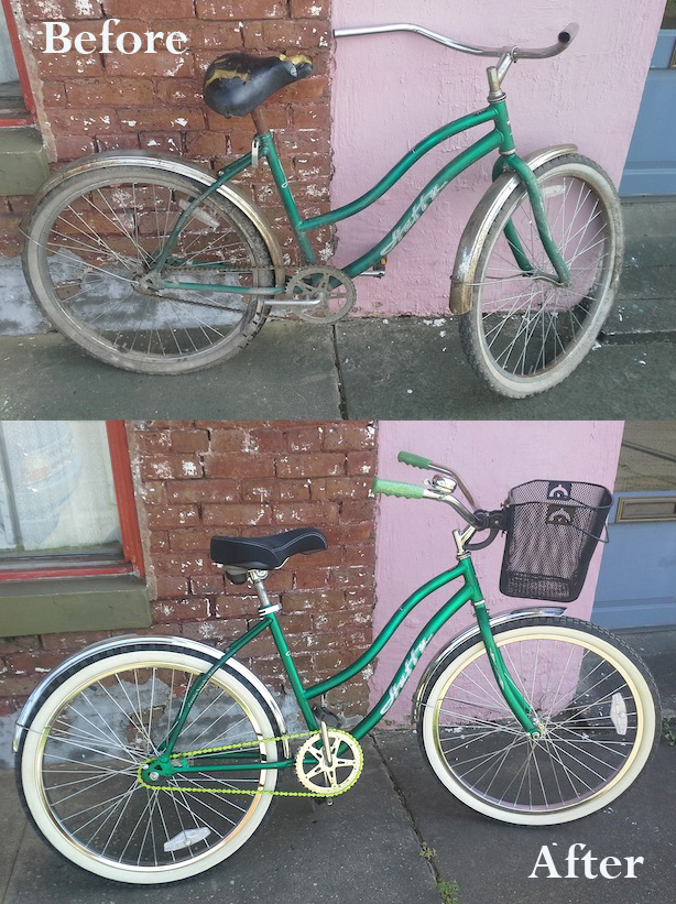 Felicia's bike.