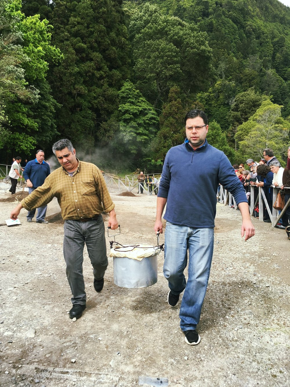 CONDÉ NAST TRAVELER: Making Volcano-Cooked Cozido in the Azores