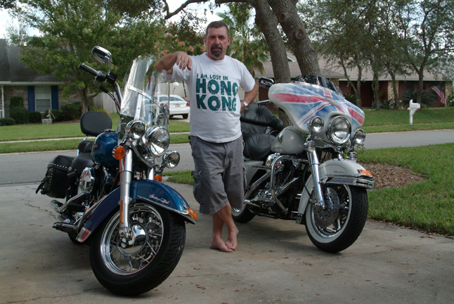 Getting ready to ride to Key West from Orlando with my good friend Knocker