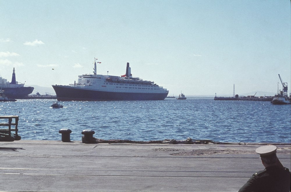 QE2 Docking while we were there.