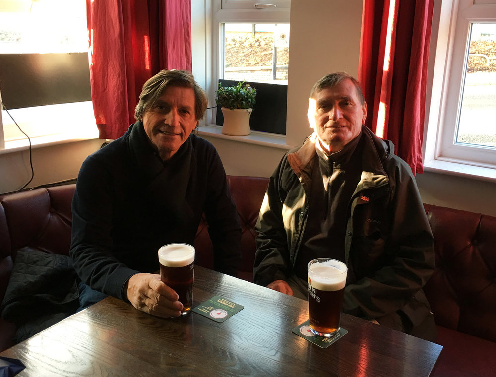 This pic I received only one hour ago!! My brothers David (right) and Jon having a pint in Sheffield, England yesterday! Amazing! They haven't met in years.