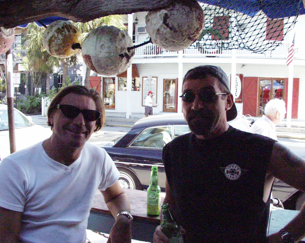 Brother Jon and I after a long ride from Miami to Key West.