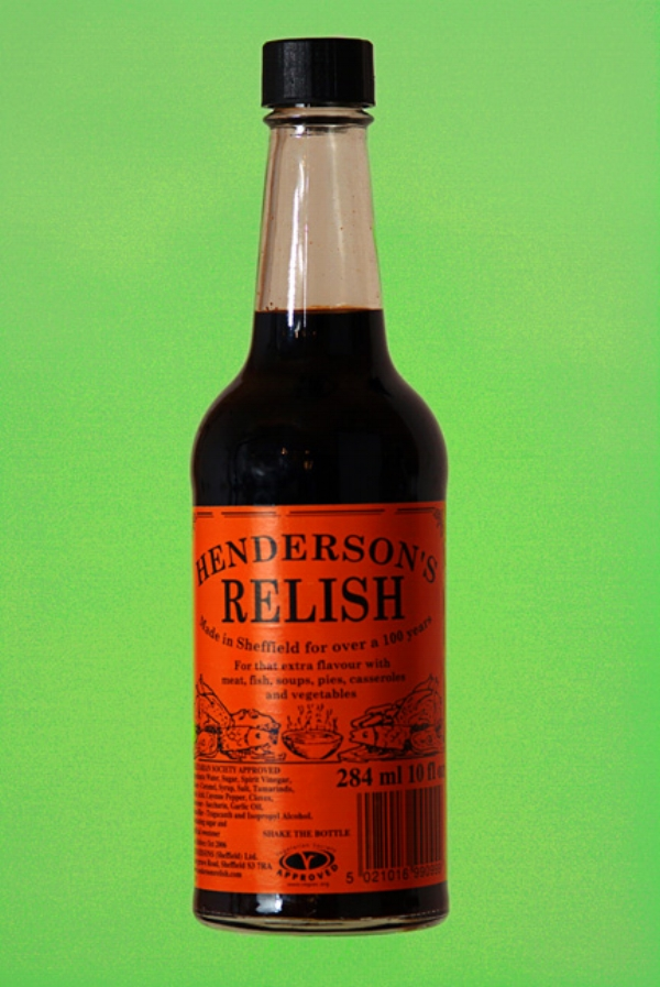 A proud icon of Sheffield ingenuity. Henderson's relish is like no other. It can be bought on line if you google it. Click  HERE  to go to the official website.