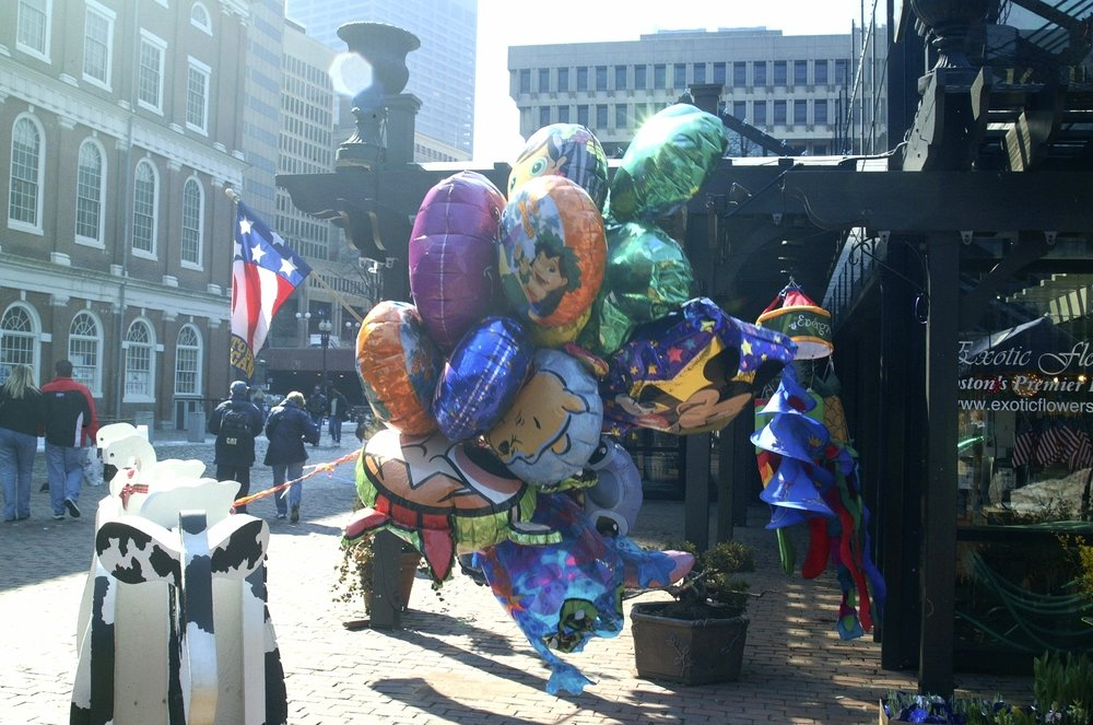 Faneul Hall or Quincy Market abounds with entertainment during the summer days.