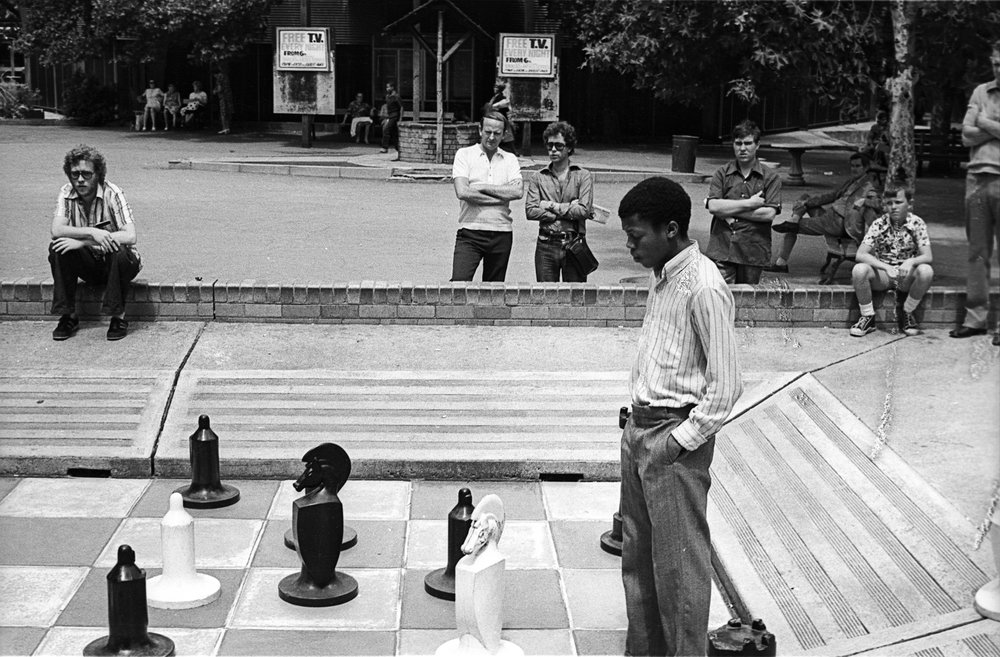 Chess in Joubert Park.