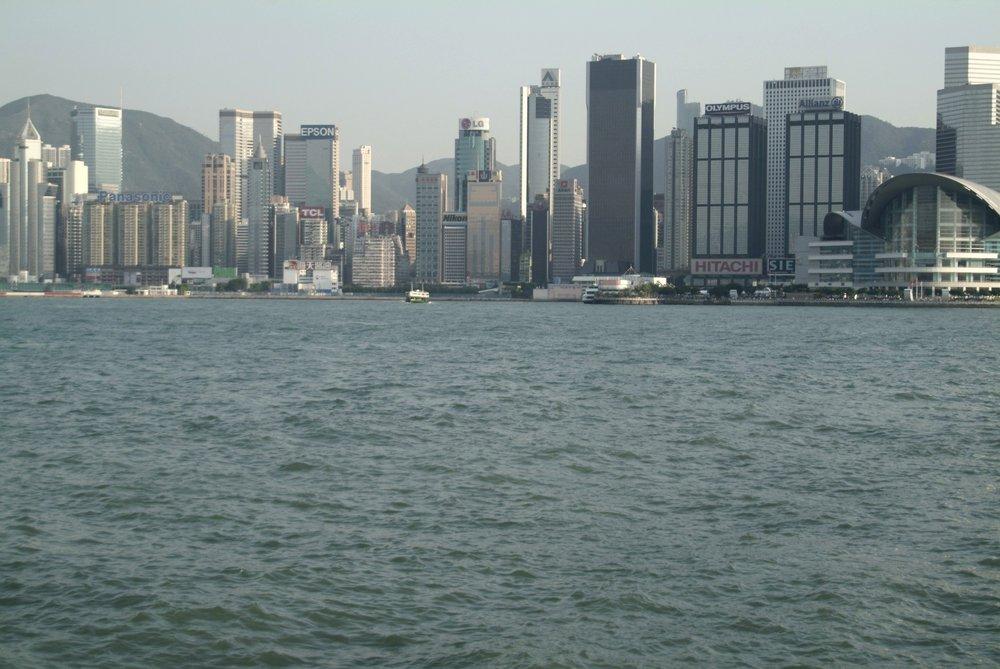Hong Kong from the harbor