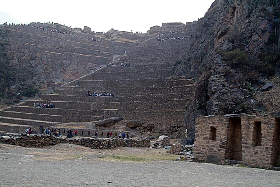 Beautiful Inca site Ollantaytambo- Peru.