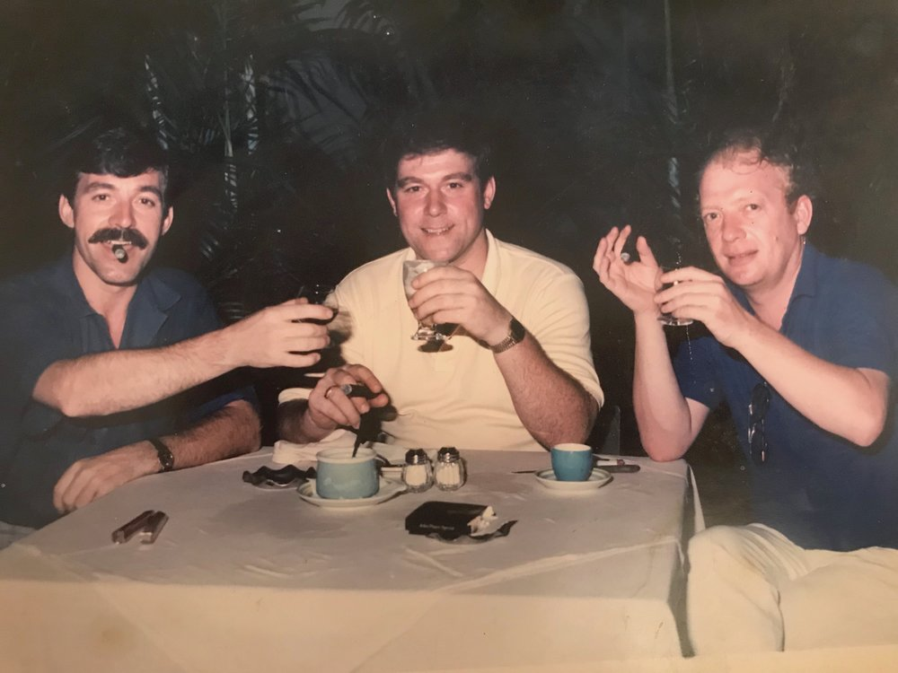 My brother Pete ( center) and his best friend Pete (the Cop!) Sadly both of these fine men are no longer with us.