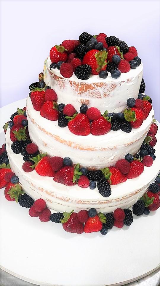 """Wedding Cake """"Naked"""""""