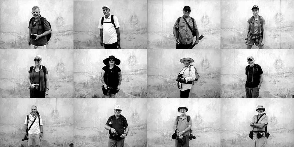 The group from Dec Cuba trip in BW. ( Shot on film )