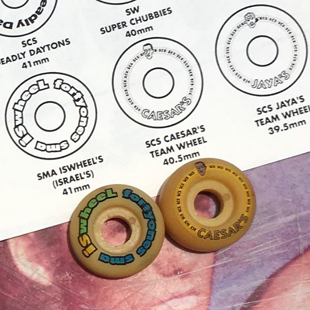 "Here's a couple of old ""speed wheels"" from the days of the great urethane shortage. Stoked to be in such good company. 93-♻️"