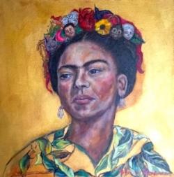 Frida mi vida en un peinado:www.adrianamartinezartist.com.jpeg