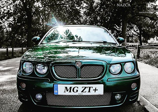 The love affair continues.  #mg #zt #zt+ #mgzt #mgzt+ #britishracinggreen #brg #photoshop #car #carphotography  #productphotography #futureclassic #carporn #rover #rovermg #bmw