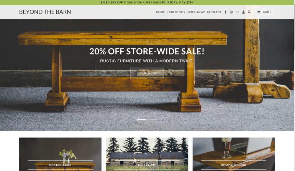 Beyond The Barn - E-commerce store & Digital Marketing Campaign