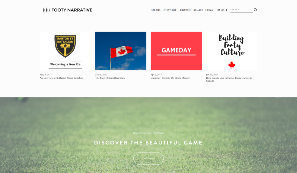 Footy Narrative - Digital Marketing Campaign