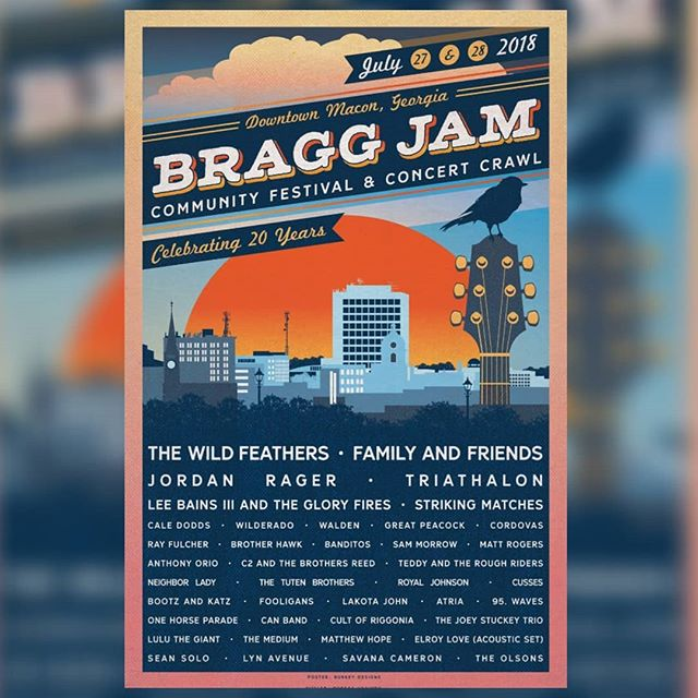 Excited to be playing @braggjam this year! I'll be doing a solo Solo acoustic set at Taste and See!