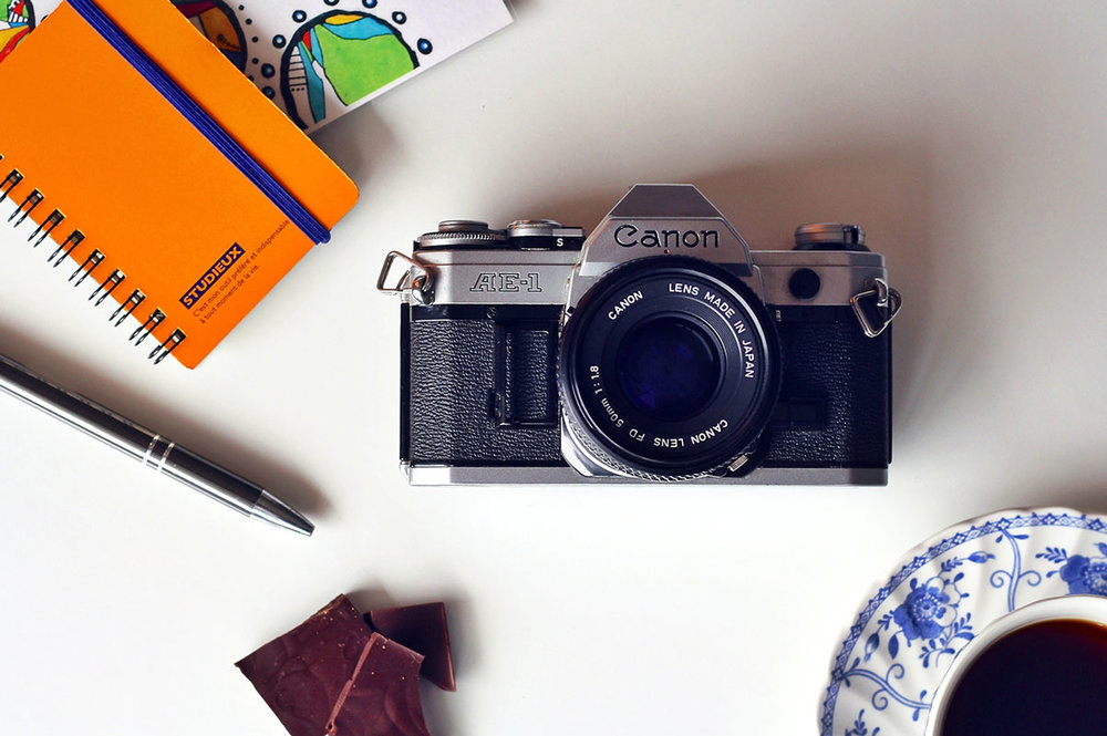 The Canon AE-1 is one of the most popular film cameras of all-time.  It's super reliable, easy to use and relatively inexpensive.
