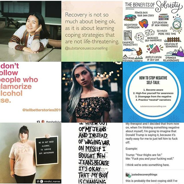 Thank you all for following along this year! From my #2018bestnine I can tell that you like it when I talk about recovery, the benefits of sobriety, and how to stop negative self-talk - noted for 2019! ☺️