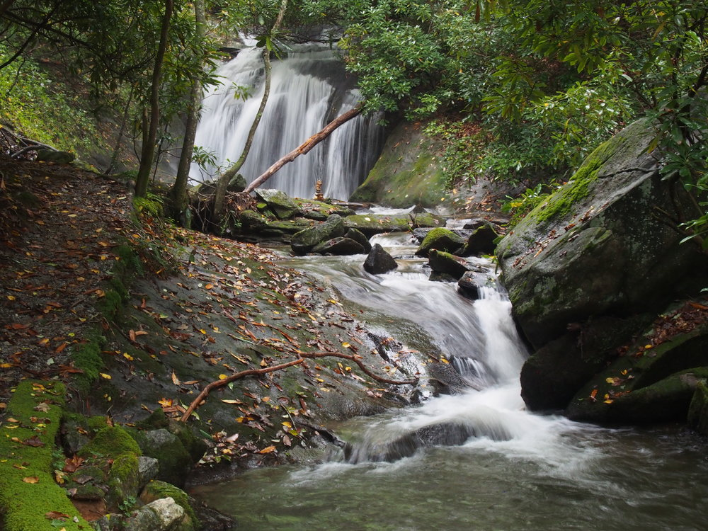 """One of the numerous water """"features"""" everywhere in Rabun Gap, GA!! (I was in water heaven:)"""