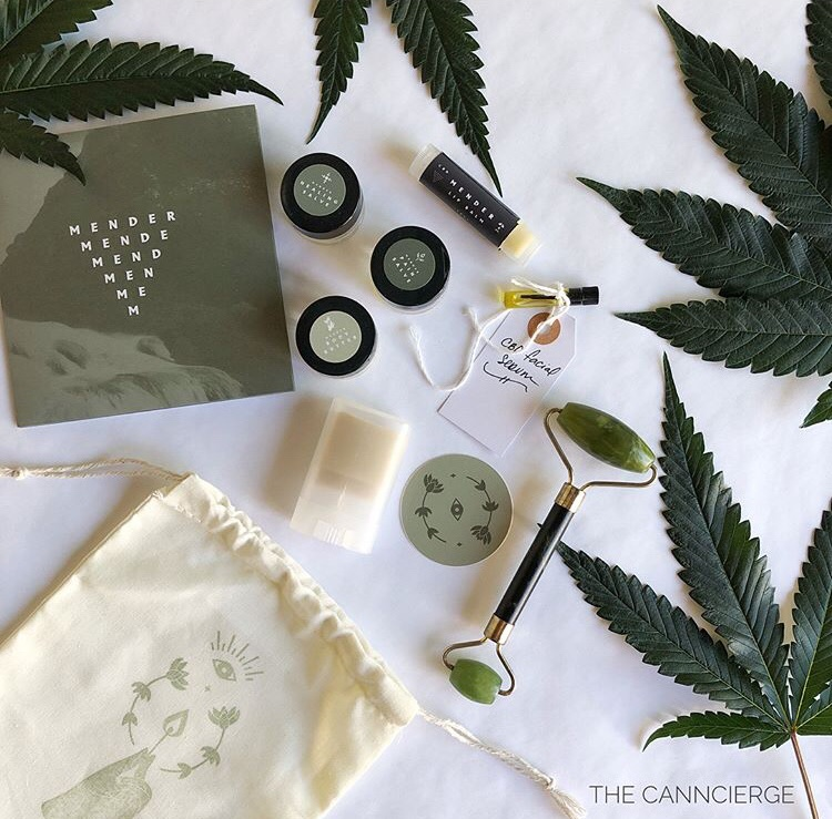 """The Canncierge Mender's """"Skin Treats"""" - Recently, I've been on a somewhat challenging mission to rid my cabinets of harmful chemicals and, while at it, point myself in the direction of #cannabeauty. Seeking CBD-rich skincare, I've been coveting Mender's cannabis-centric skin treats and lucky for moi, April, Mender's badass founder, noticed and blessed me with samples from her line of infused products. Read on >>"""