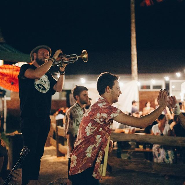 Flashback to @mullummusicfestival 2016.  We are back at #mullummusicfestival2017 bringing those New Orleans party vibes to the @stoneandwood bar at the high school from 1pm Saturday. #festival #music #party #stoneandwood
