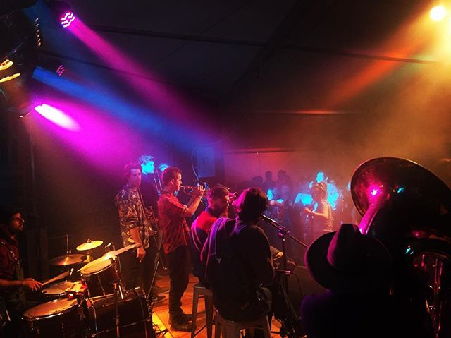 Fun Fun Fun at the @nationalfolkfestival with our buddies from @hornsofleroy joining us.  Looking forward to doing it all again tonight at the Scrumpy tonight from 11:30pm. #ournff#festival#hornsofleroy#lowdownriders#canberra