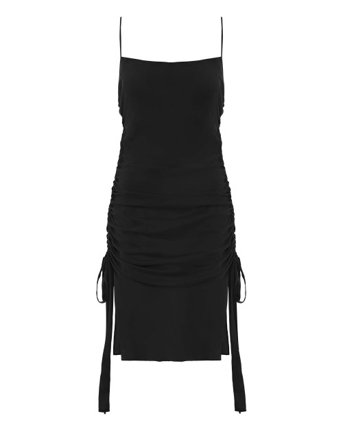 1.3466DRPAI.CHA.Charcoal-Ruche-Slip-Mini-Dress-flat.jpg