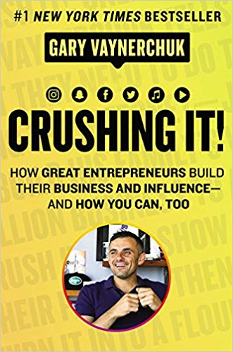"Crushing It! - Gary VeeI'm actually a fan of Gary Vee!I found him thru a interview I seen on the Breakfast Club and was instantly hooked! I love his straight forward, no frills approach to business. He doesn't sell you this dream of the ""get rich quick"".Crushing it is his updated 2.0 version of his first book Crush It.It shows how entrepreneurs elevated their business by using social media platforms to their best advantage."
