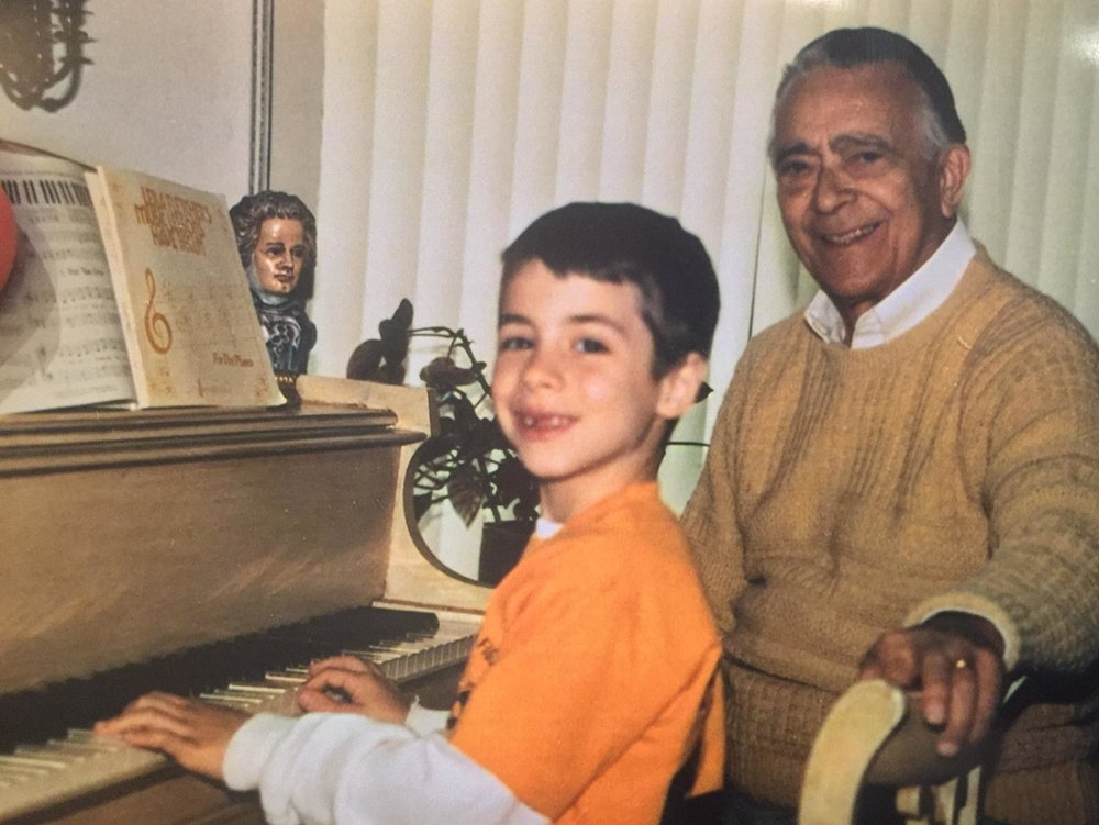 7-year-old me and my teacher, Sal...
