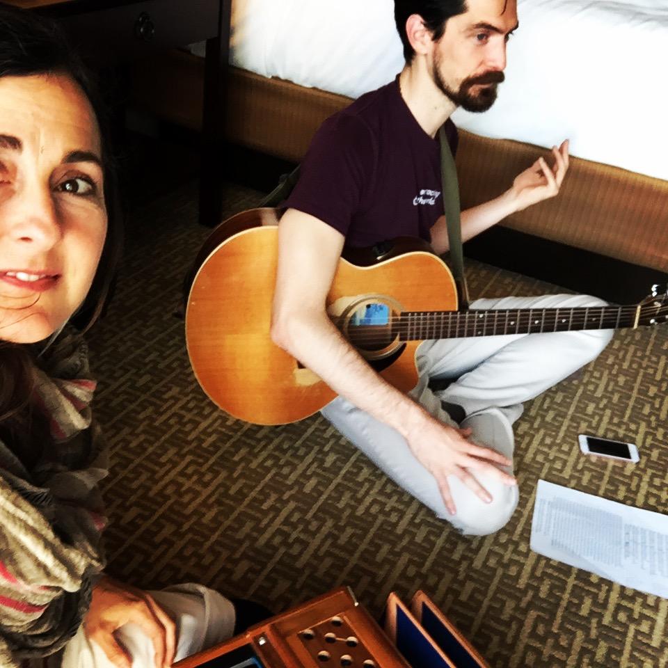 Kat & Michael rehearsing....