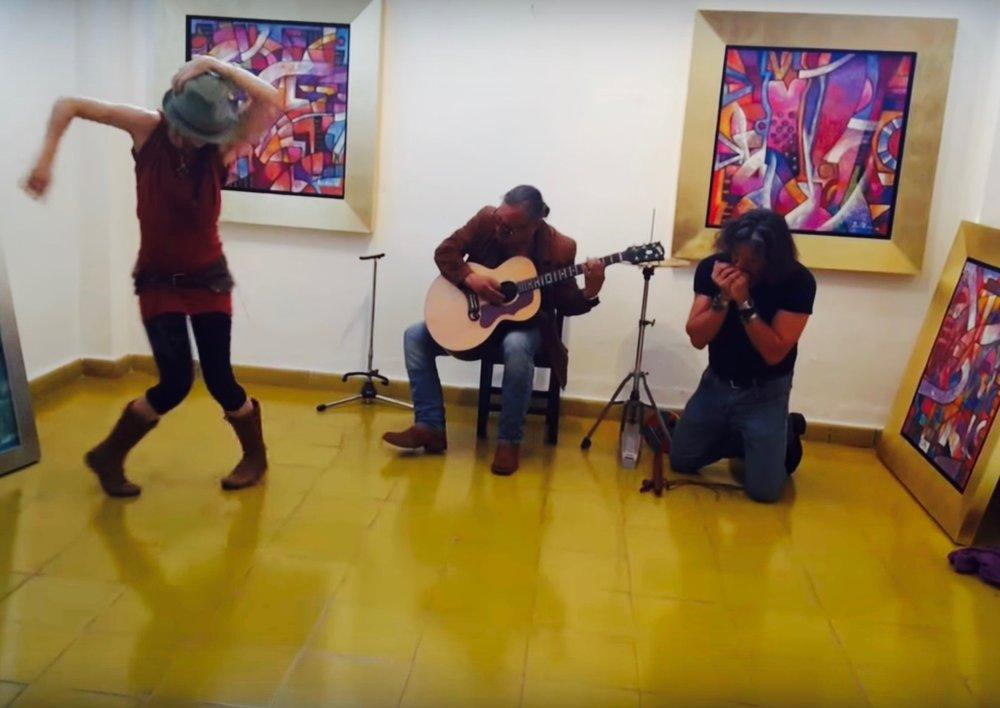kavita,  rene parra sr.  &  david leonardo @ b'nai or gallery , san miguelle de allende, mexico.