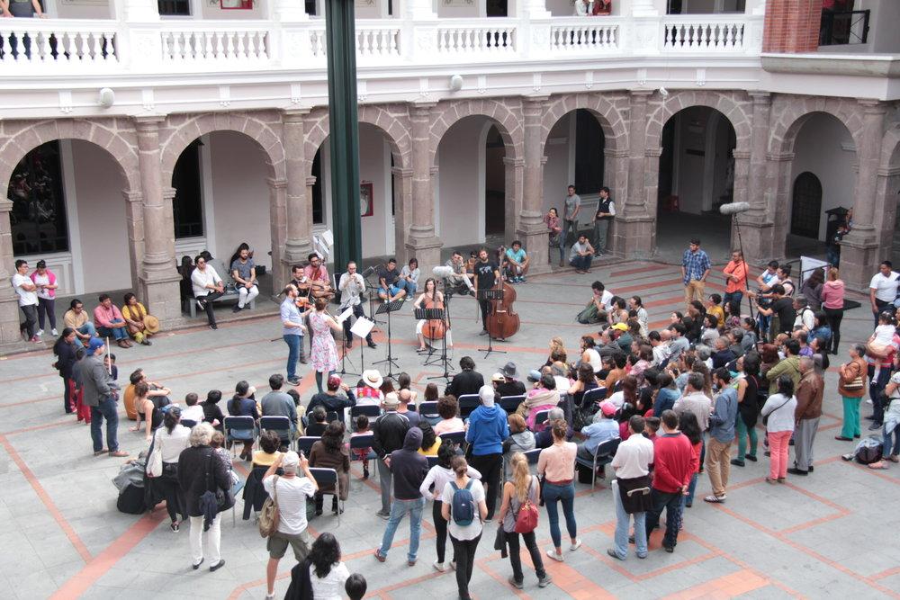 Centro Cultural Metropolitano. Concierto de Clausura 2017 Centro histórico de Quito. Junio 2017