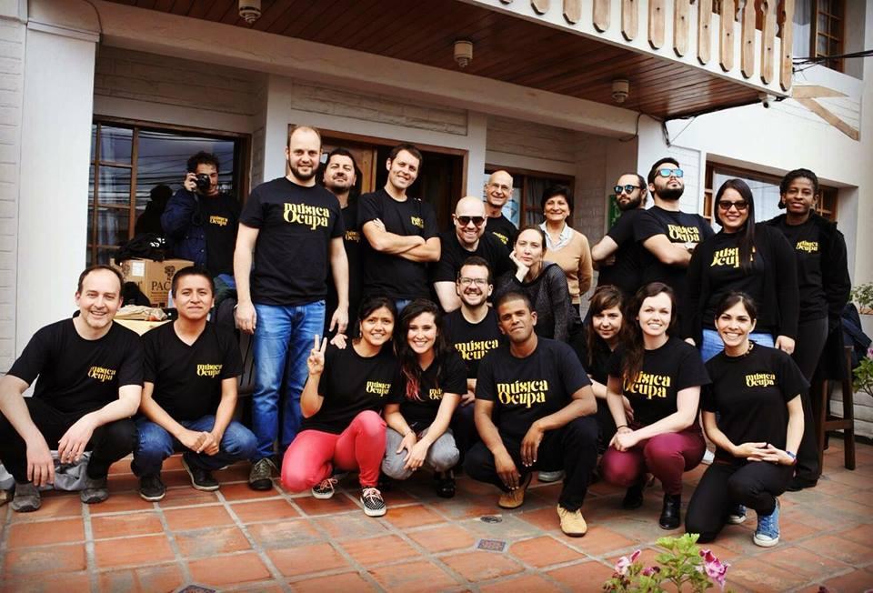Músicos Residentes y equipo MúsicaOcupa 2018