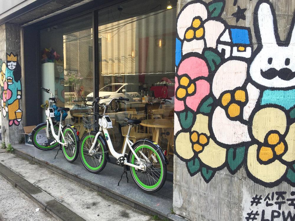 Seoul Bicycle Street Art