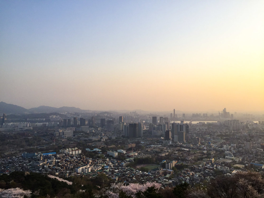View of Seoul from Seoul Tower
