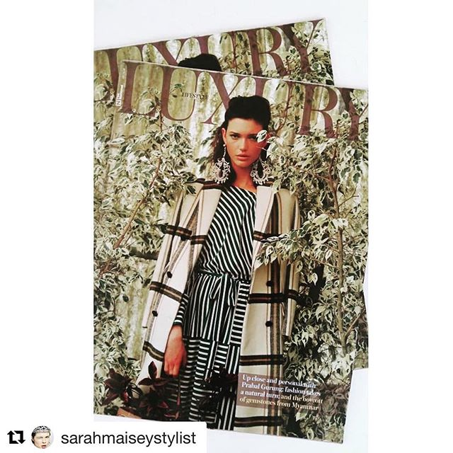 #Repost @sarahmaiseystylist with @get_repost ・・・ Covet story for Luxury Magazine, Hothouse Flower, #photography @bachar.srour #fashiondirector @sarahmaiseystylist #makeup @sharondrugan #hair @lornabutlerhairmup #model @daisyboote @prm_agency #location @wahatalsahraa #plants #covershoot #greenery #brunette #stripes