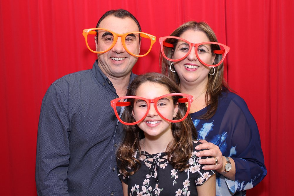 family photo booth photo