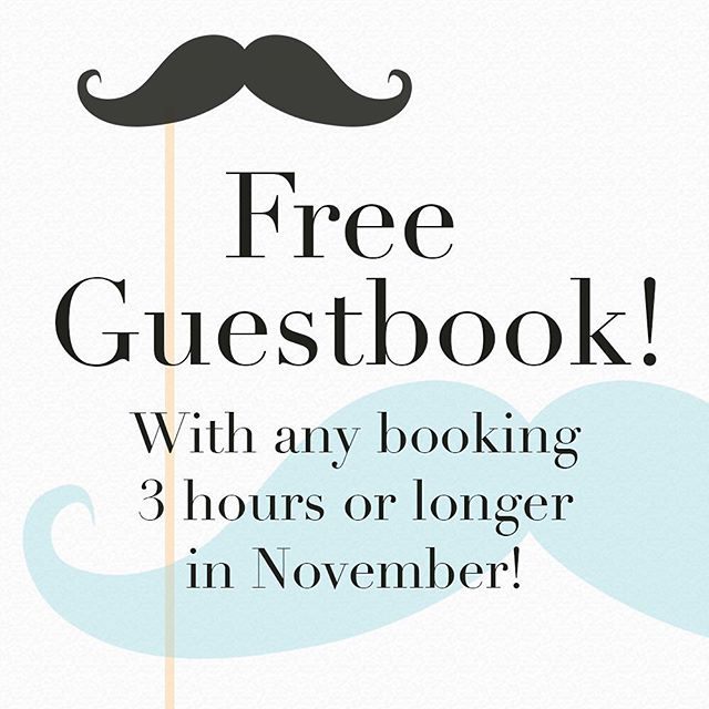 Make any booking 3 hours or longer for an event before the 30th of November and get a free guestbook with your photobooth!! $50 of value, free!! Inquire today! info@notjustvisualphotobooths.com | 0434 451 300