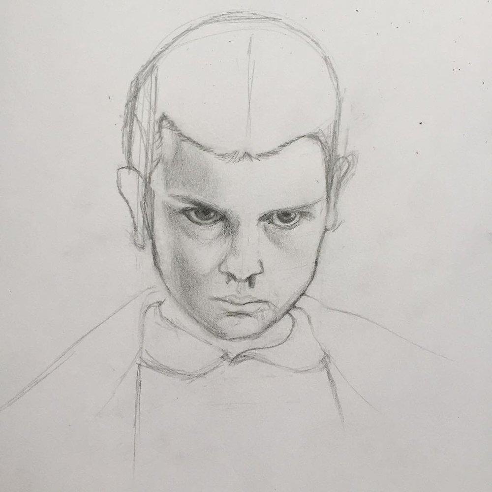 Eleven. Pencil on paper.