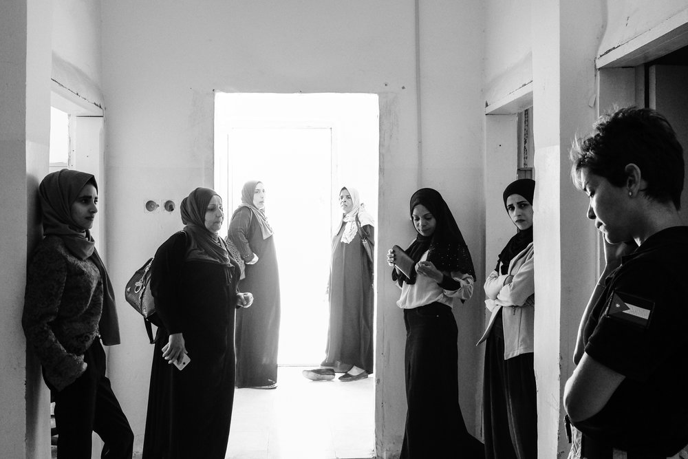 Our colleague,Tamara,working with women from Khaldiyyah Women's Group in Mafraq on community engagement strategies for the Community Police