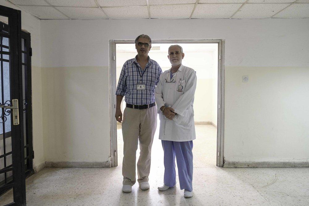 Staff at Mafraq Government Hospital