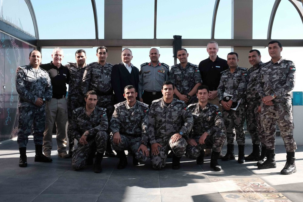 The course participants and two candidate trainers with the Head of Training and UKPST Advisors