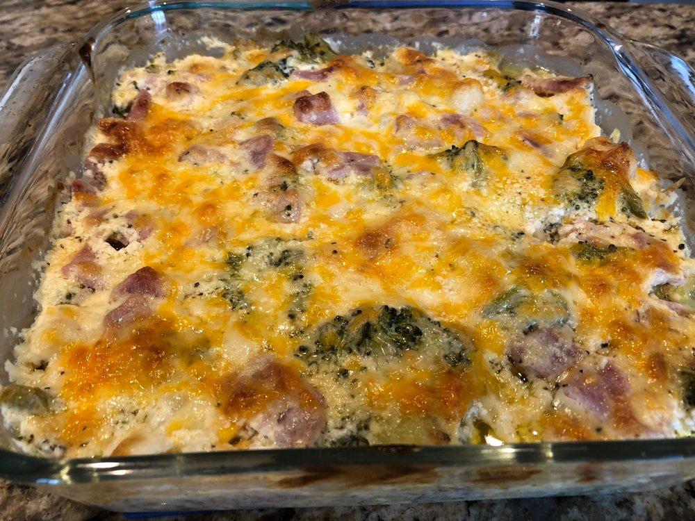 Keto Ham, Cheese, Broccoli Casserole