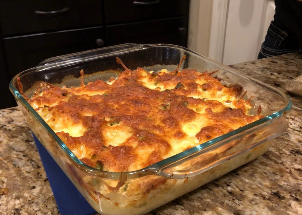 Keto and low carb gluten free chicken macaroni and cheese dinner recipe