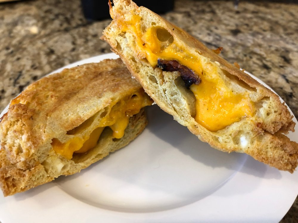 Air Fryer Bacon Grilled Cheese — Simple  Fun  Keto!