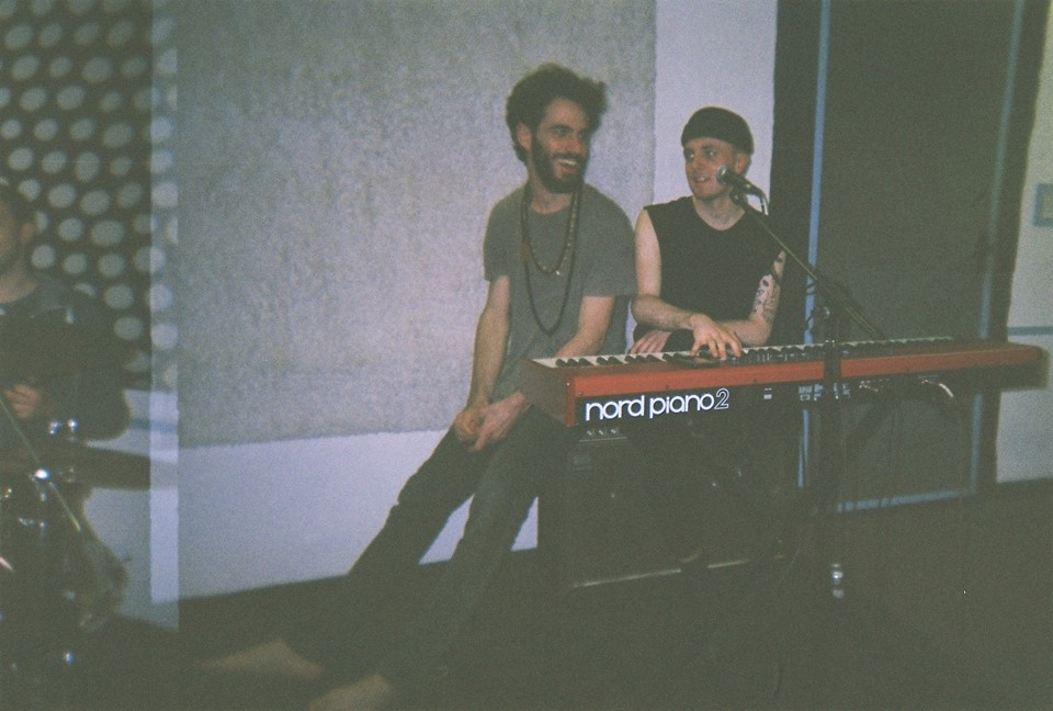 Andrea and Jack during the rehearsal at Wesbourne Studios in London